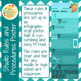 Art Room Rules Poster