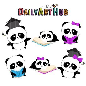 Studious Panda Clip Art - Great for Art Class Projects!
