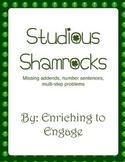 Studious Shamrocks- Missing addends, number sentences and