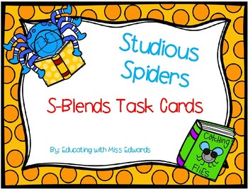 Studious Spiders S-Blends Task Cards