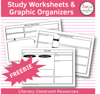 Study Aids And Graphic Organisers By Jooya Teaching Resources TpT