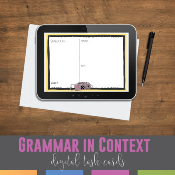 Study Any Grammar Concept: Grammar Cards for Differentiation