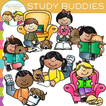 Study Buddies: Reading Clip Art