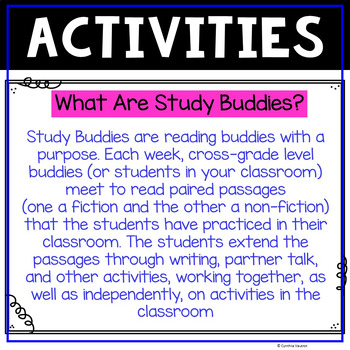 Study Buddies - FREEBIE