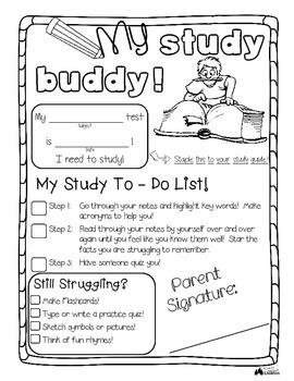 Study Buddy - A printable to help students study!