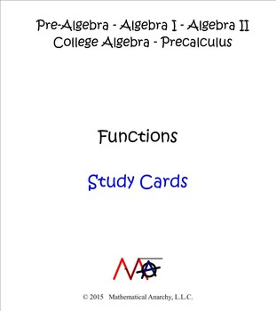 Study Cards - Functions