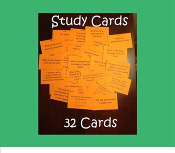 Study Cards - Linear Functions