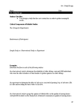 Study Design Notes
