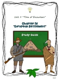 Study Guide 5th Gr S. Studies Chapter 4 European Settlemen