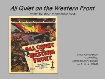 Study Guide:  All Quiet on the Western Front