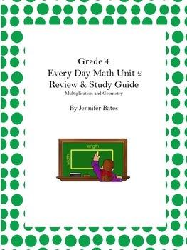 Study Guide & Cumulative Review- Grade 4 Unit 2 EDM