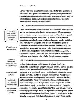 Study Guide - El Internado - Episode 5 - Un cadáver en la laguna