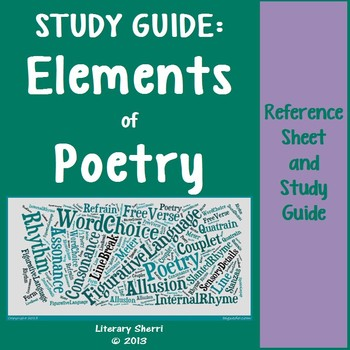 Elements of Poetry: Study Guide (Grades 7, 8, 9)