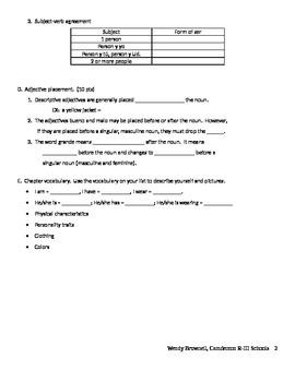 Study Guide En Español Level 1 Unidad 1 Etapa 2