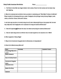 Study Guide - Events Leading to American Revolution