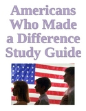 Study Guide -Famous Americans for Third Grade