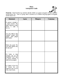 Novel Study, Holes (by Louis Sachar) Study Guide
