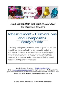 Study Guide -- Measurement (Conversions and Composites)