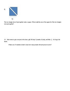 Study Guide - Multiplying and Dividing Fractions