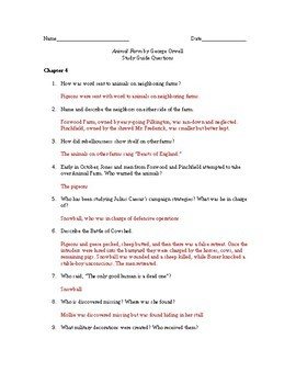 study guide questions and answers for animal farm by george orwell rh teacherspayteachers com study guide questions for animal farm study guide for animal farm by george orwell