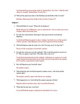 Study Guide Questions and Answers for Animal Farm by George Orwell