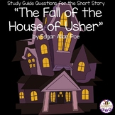 """Study Guide Questions for """"The Fall of the House of Usher"""" by Edgar Allan Poe"""