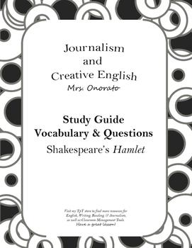 Study Guide: Shakespeare's Hamlet