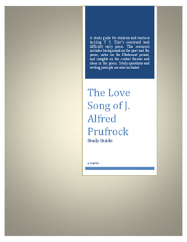 Study Guide: The Love Song of J. Alfred Prufrock