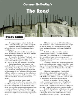 "Study Guide: ""The Road"" by Cormac McCarthy"