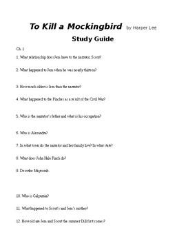 Study Guide: To Kill a Mockingbird