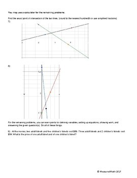 Study Guide and Review for Systems of Equations - Measured Math Ch1