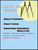 Study Guide and Review for Systems of Equations - Measured