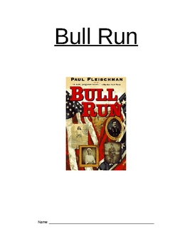 Study Guide for Bull Run (book by Paul Fleishman)