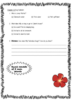 Study Guide for Calvin Coconut Hero of Hawaii