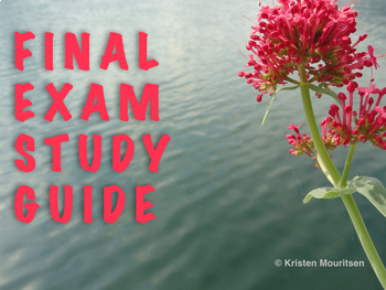 Final Exam Study Guide for French