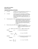 Pre-Calc: Study Guide for Graphing Rational Functions