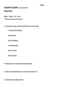 Study Guide for Guards! Guards! By Terry Pratchett
