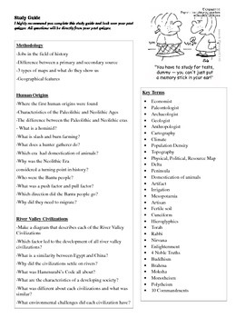 Study Guide for History Methodology, River Valleys, Religion, Human Origins
