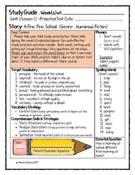 Study Guide for Journeys - Grade 3