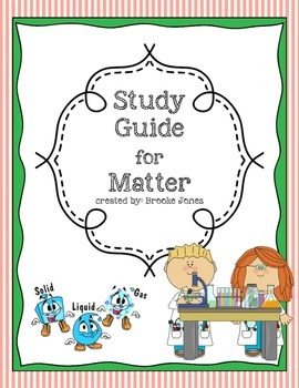 Study Guide for Matter Test 2