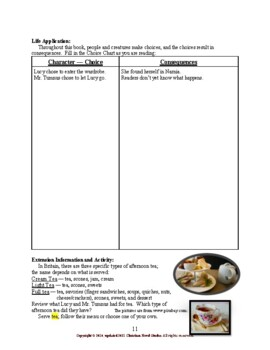 Study Guide for Narnia: The Lion, the Witch and the Wardrobe Workbook