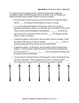 Study Guide for Narnia: The Magician's Nephew Reproducibles