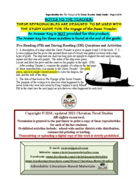 Study Guide for Narnia: The Voyage of the Dawn Treader Reproducibles