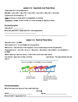 Study Guide for Place Value