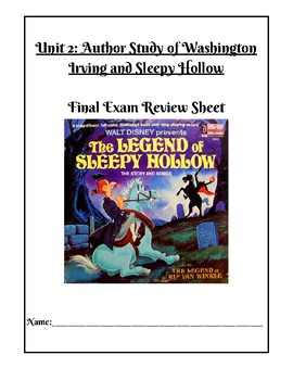 Study Guide for Sleepy Hollow (adapted version)