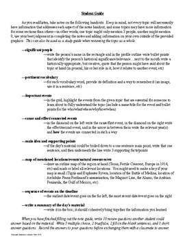Study Guide or Note Guide for Any History Topic