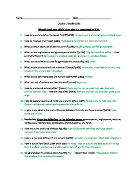 Study Guide to Accompany GA Science Chapter 7 5th Grade