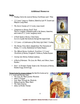 Study Guides for Narnia: Welcome to Narnia