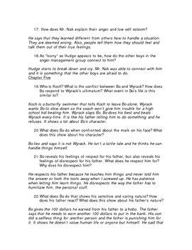 Study Guide w/ Teacher Key for Ironman by Chris Crutcher