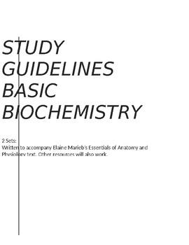Study Guidelines Bundle - Anatomy and Physiology Basic Biochemistry SET 1 & 2